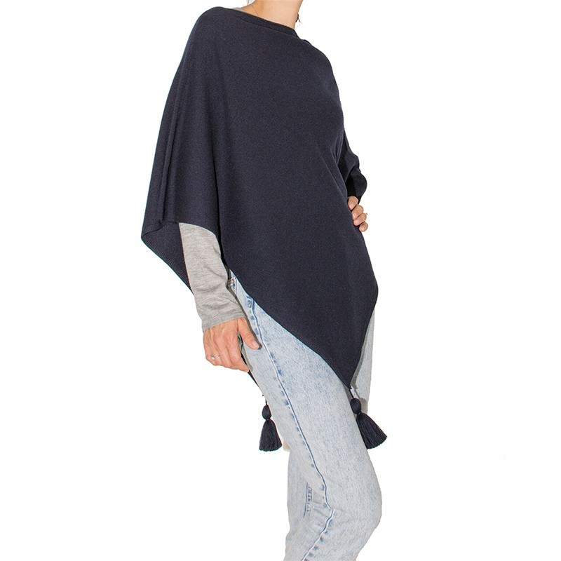 100% Cashmere Shawl with Leather Fringes