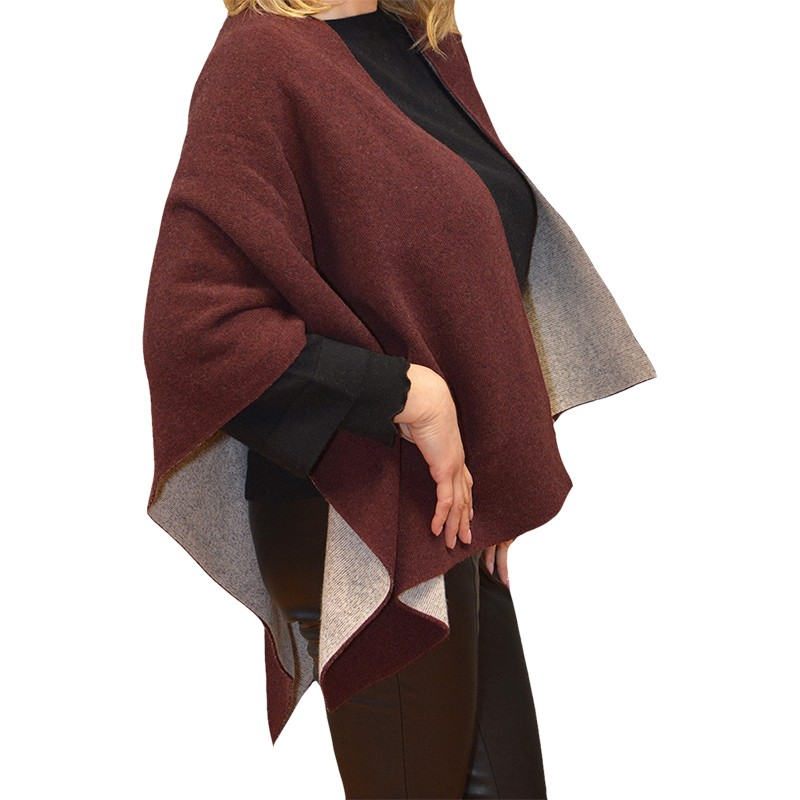 Coat in Cashmere, Wool & Silk with Fox Fur